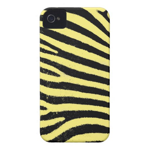 Yellow Zebra  Barely There™ iPhone 4 Case