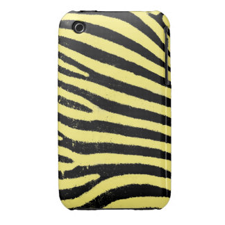 Yellow Zebra iPhone 3G/3GS Case-Mate Barely There™ Case-Mate iPhone 3 Cases