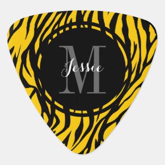 Yellow Zebra Personalized Guitar Pick