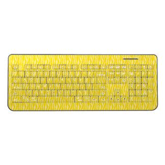 Yellow Zebra Print Pattern Wireless Keyboard