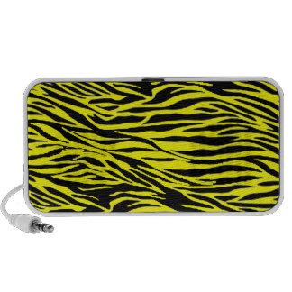 Yellow Zebra Print Speaker
