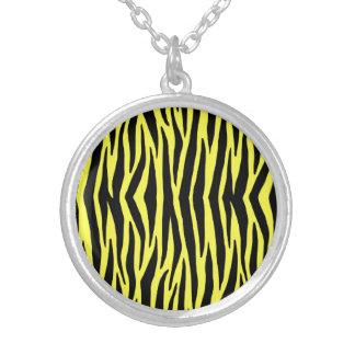 Yellow Zebra Stripes Necklace