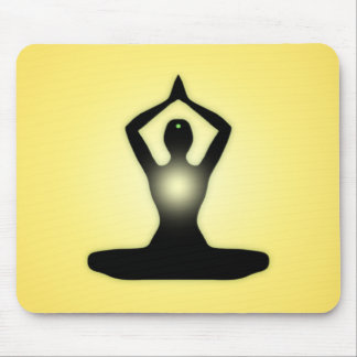 Yellow Zen Meditation Sunburst Mouse Pad