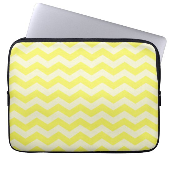 Yellow Zig Zag Pattern Laptop Sleeve