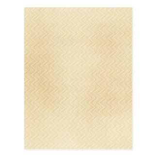 Yellow Zig Zag Pattern Post Cards