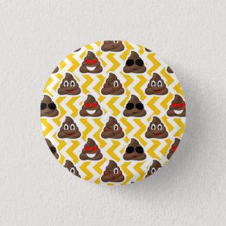 Yellow Zig Zag Poop Emojis 3 Cm Round Badge