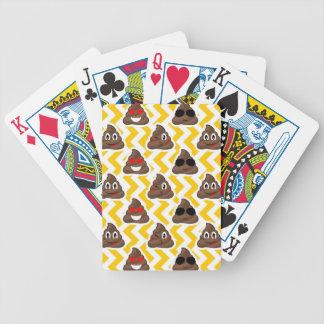 Yellow Zig Zag Poop Emojis Bicycle Playing Cards