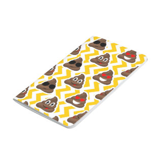 Yellow Zig Zag Poop Emojis Journal