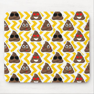 Yellow Zig Zag Poop Emojis Mouse Pad