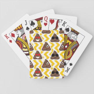 Yellow Zig Zag Poop Emojis Playing Cards