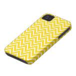 Yellow zigzag chevron pattern BlackBerry Bold case