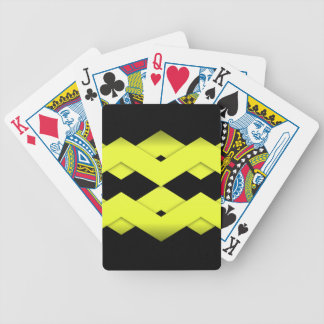 Yellow Zigzag on Black Bicycle Playing Cards