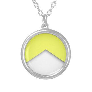 Yellow Zigzag Round Pendant Necklace