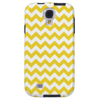 Yellow Zigzag Stripes Chevron Pattern Galaxy S4 Case