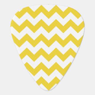 Yellow Zigzag Stripes Chevron Pattern Guitar Pick