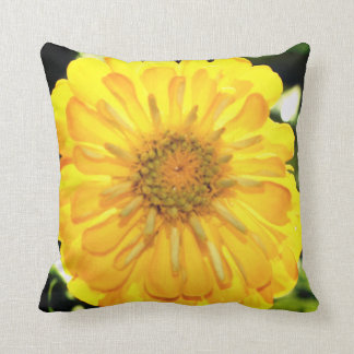 Yellow Zinnia Cushion