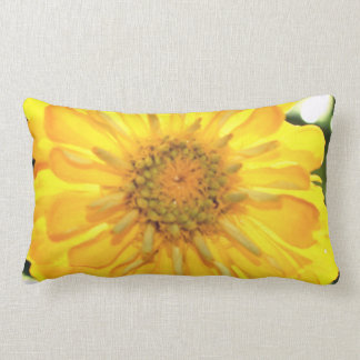 Yellow Zinnia Lumbar Cushion