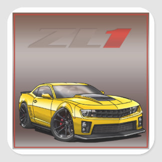 Yellow_ZL1 Square Sticker