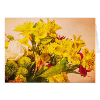 Yellowed Flowers Card