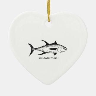 Yellowfin Tuna Logo Ceramic Ornament