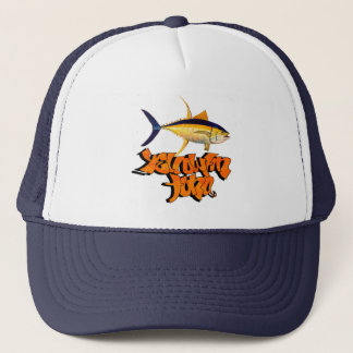 yellowfin tuna trucker hat
