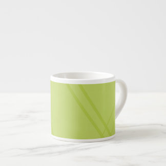 YellowGreen Crissed Crossed Espresso Cup