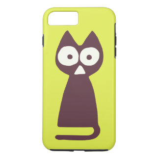Yellowish green Purple Triangle Symbolic Cat iPhone 8 Plus/7 Plus Case