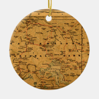 Yellowstone 1880 ceramic ornament