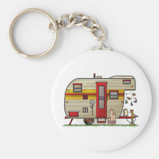 Yellowstone Camper Trailer Basic Round Button Key Ring