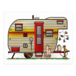 Yellowstone Camper Trailer Post Cards