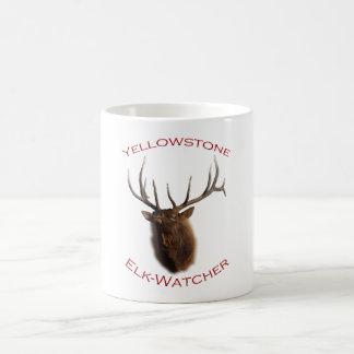Yellowstone Elk-Watcher Basic White Mug