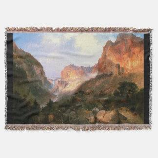 Yellowstone Falls Park Waterfall Throw Blanket