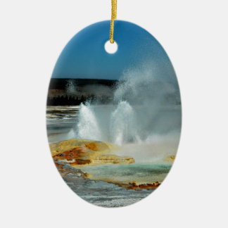 Yellowstone Geysers Ceramic Ornament
