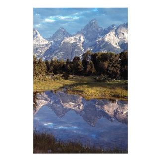 Yellowstone Grand Teton Reflections Custom Stationery