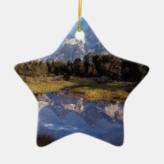 Yellowstone Grand Teton Reflections Ceramic Star Decoration