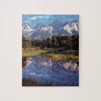 Yellowstone Grand Teton Reflections Jigsaw Puzzle