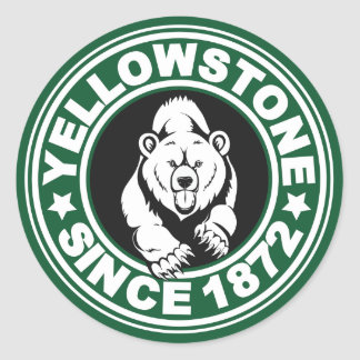 Yellowstone Green Circle Classic Round Sticker