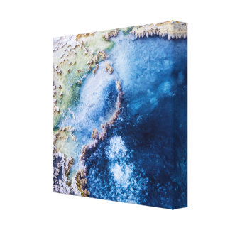 Yellowstone Hot Springs Stretched Canvas Print