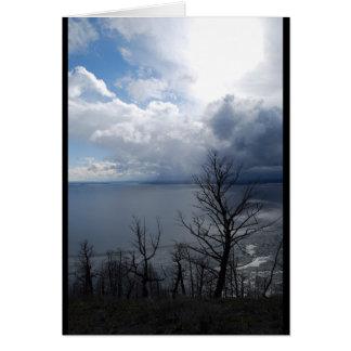 Yellowstone Lake Sunset Note Card