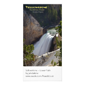 Yellowstone - Lower Falls Brink Photo Card Template