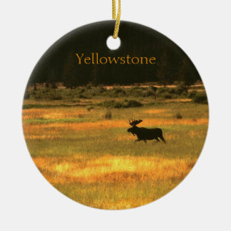 Yellowstone Moose Christmas Ornament