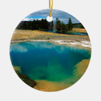 Yellowstone Morning Glory Pool Wyoming Ceramic Ornament