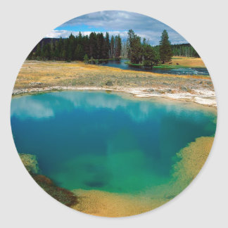 Yellowstone Morning Glory Pool Wyoming Sticker