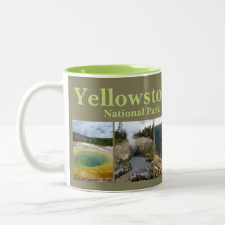 Yellowstone N.P. Collage Two-Tone Coffee Mug
