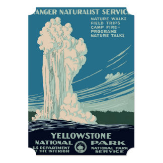 Yellowstone National Park 13 Cm X 18 Cm Invitation Card