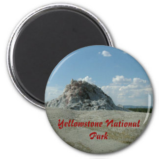 Yellowstone National Park 6 Cm Round Magnet