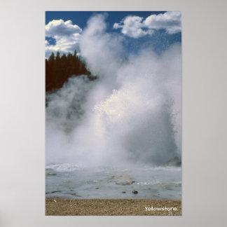 Yellowstone National Park, Beautiful Geyser Poster