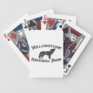 Yellowstone National Park Bicycle Playing Cards