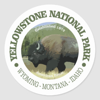 Yellowstone National Park (bison) Classic Round Sticker