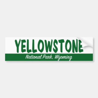 Yellowstone National Park Bumper Sticker